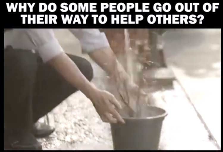 Why do some people go out of their way to help others?